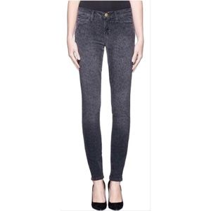 Current Elliott Ankle Skinny Black Wash Leopard 30